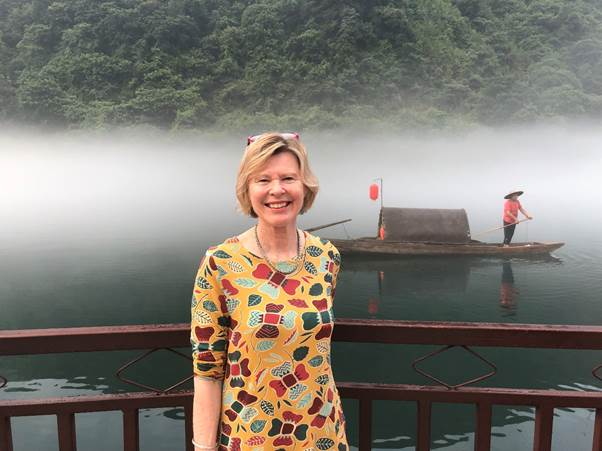 Dr Jill travelling in China
